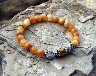 Shell wrist mala bracelet