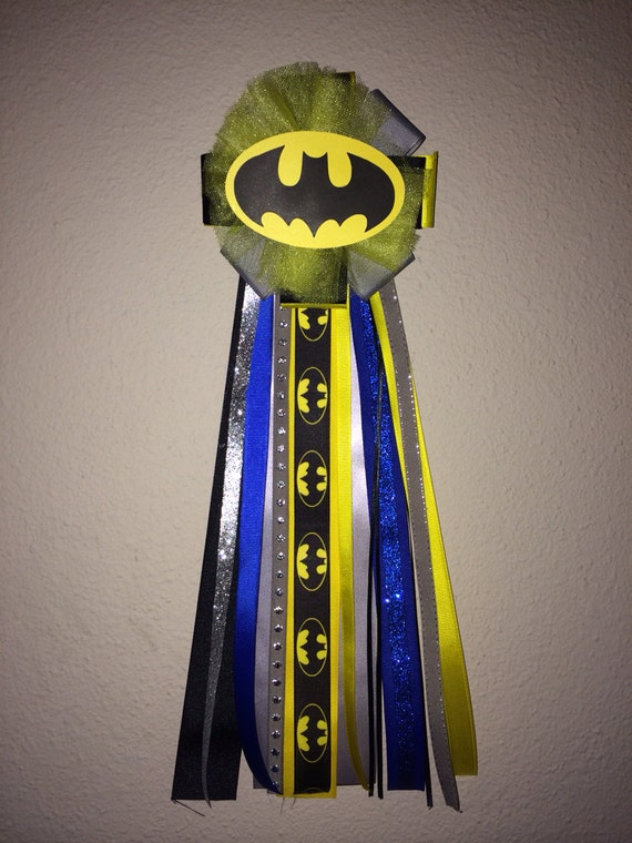 batman baby shower corsage