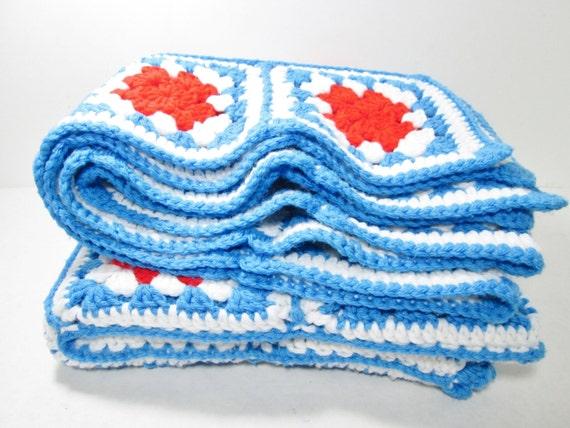 Granny Squares Crochet  Afghan