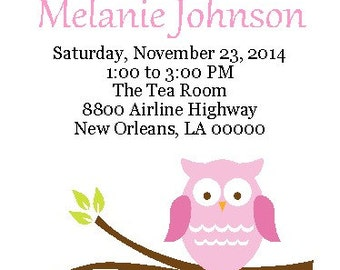 10 Sweet Baby Owls - Baby Shower Invitations
