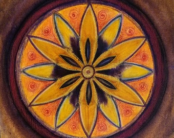 Empowerment Mandala - Original Artwork - Mandala Painting - Feng Shui Art