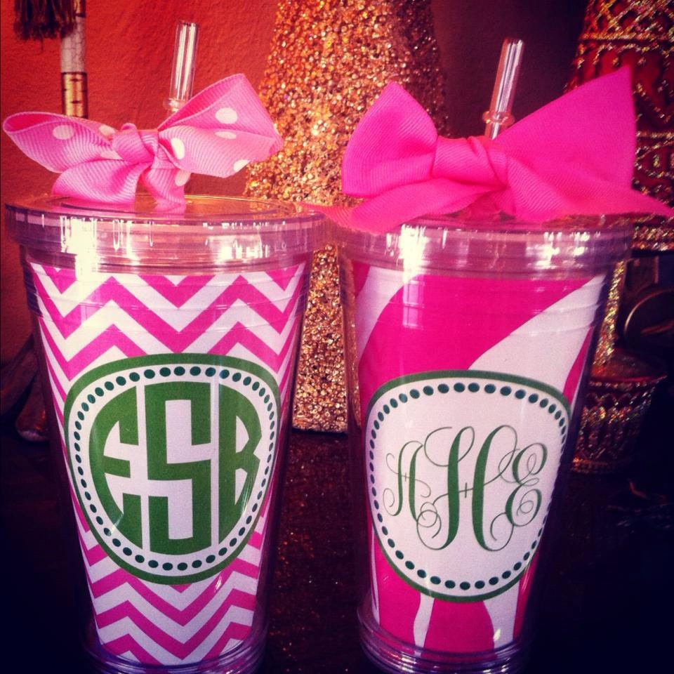 Chevron Cup Zebra Cup Pink Tumbler Personalized Cup