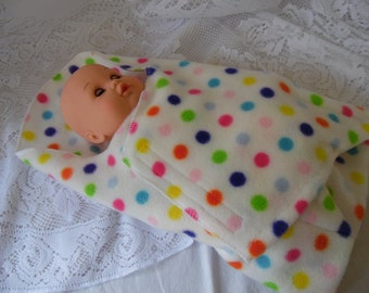 Bunting Swaddling Blanket for Bitty Baby, Waldorf and Similar Sized Dolls, Doll Blanket, Wrap, Swaddler, Doll Accessories, Toys