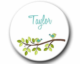 Personalized Pocket Mirror  2.25 inch Pocket Mirrors Shower Gift Birthday gift Tween Gift Teen Gift