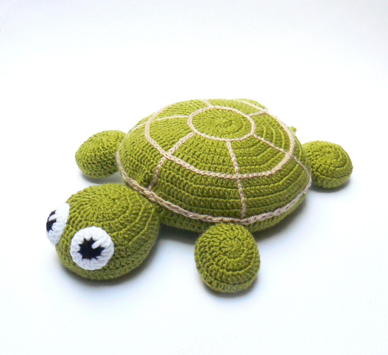 Crochet Pillow Round Pillow Turtle Pillow Pouf Pillow