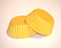 24 Yellow Greaseproof Mini Cupcake Liners Papers Cups Baking Cups Muffin Cup Baby Shower Boy and Girl Birthday Supplies