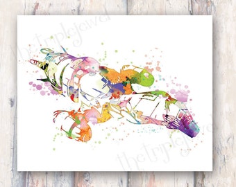 Firefly Serenity Splatter Print 8x10, Geekery, Nerd, Fine Art, Geek Chic, Poster, Wall Art, Decoration, Colorful, Nerdery