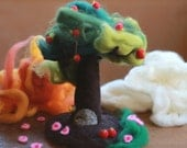 Needle Felted, Tree, Waldorf, Seasonal, 4 Seasons, Spring- Summer-Autumn-Winter-All year nature Table Decoration- Magical Faraway Tree