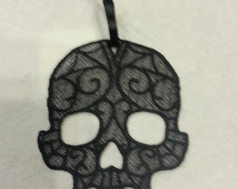Lace Skull Ornament
