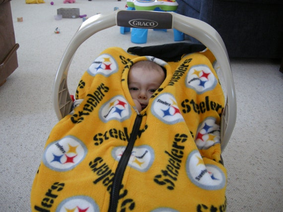 pittsburgh steelers infant car seat cover by reelstitch on etsy. Black Bedroom Furniture Sets. Home Design Ideas