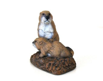 1972 The Bronze Menagerie Prairie Dogs Neal Deaton