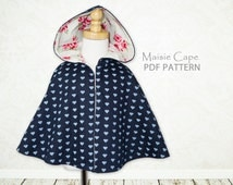 Girls sewing pattern pdf, childrens sewing pattern, Costume, Jacket,  easy sewing pdf pattern, cape sewing pattern girls cape pattern MAISIE