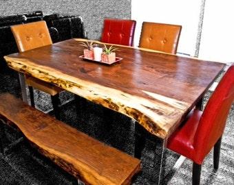 Stunning Live Edge Black Walnut Tables