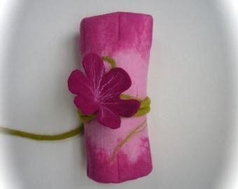 Crayon Roll  Felted Waldorf  Beeswax  Elf  Fairy school.