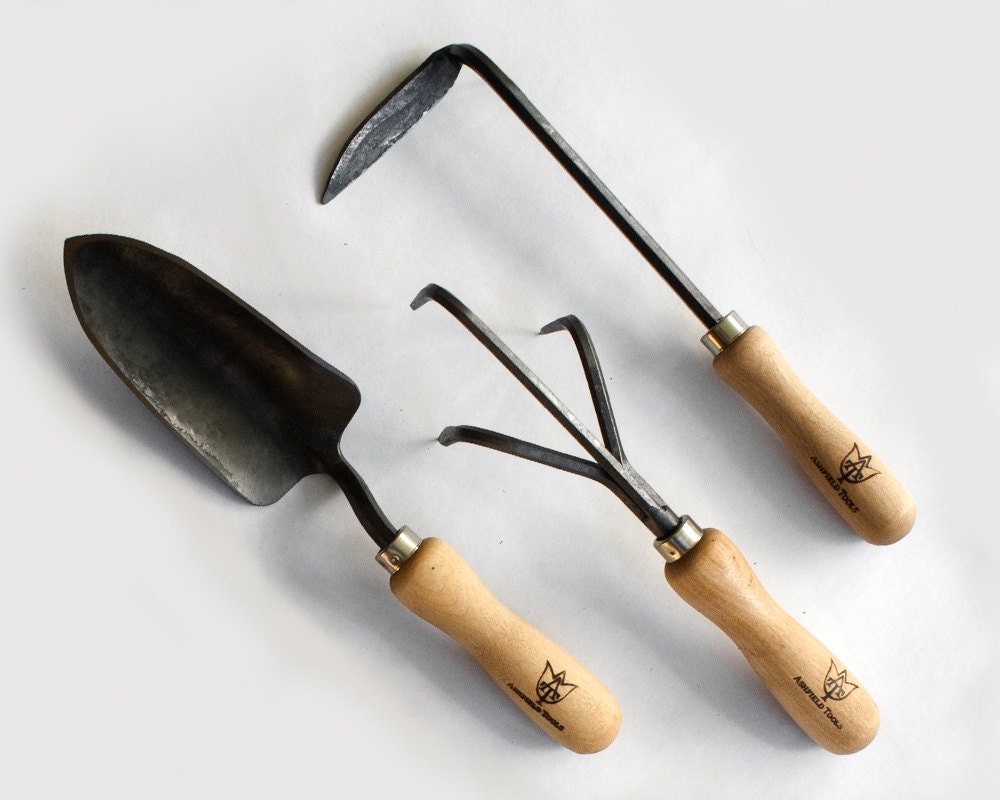 3 piece garden tool setcultivator trowel weeder for Cultivator garden tool
