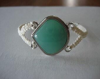 Adjustable Hemp Bracelet - Turquoise