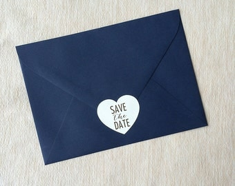 SALE // Save the Date Heart Stickers (Set of 75)
