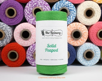 240 Yards of Solid Peapod Green Baker's Twine - String - Embellishment Packaging Craft Party Supplies