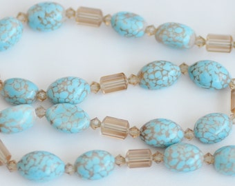 Turquoise and Citrine Bead Necklace
