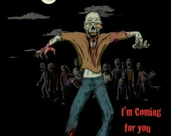 Zombie shirt Coming for you Barbara