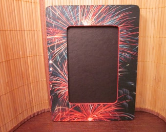 4th of July Fireworks Picture Frame