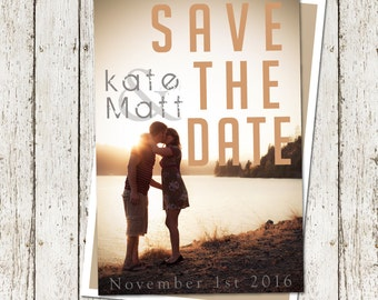 Fun Save The Date Custom-Couple -Wedding-Invitation