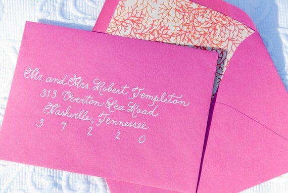Addressing A Wedding Gift Card : Envelope AddressingCustom HandwrittenPlace Cards, Escort Cards ...