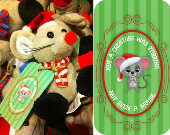 Not a Creature was Stirring, Not Even a Mouse Gift Tags - Instant Digital Download - PDF