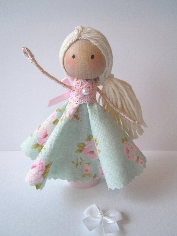 Handmade clothespin wooden peg doll