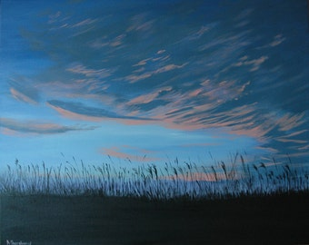 morning sky large painting