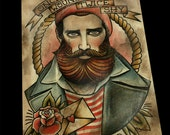 Once Wounded Twice Shy Tattoo Art Print
