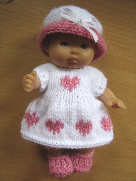 Knitting Pattern for 5 Berenguer Dolls by DesignerDollsClothes