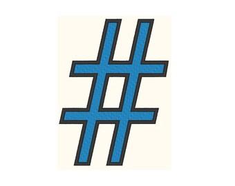 Hashtag # Embroidery Design