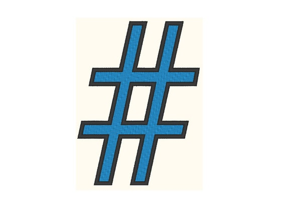 Hashtag embroidery design for Hashtag architecture