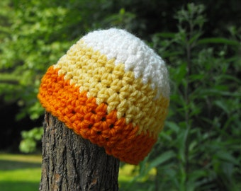 Candy corn hat made to size wonderful warm Halloween outfit or photography props