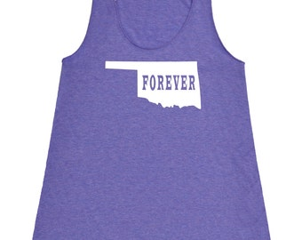 Womens Oklahoma Forever Tank Top - American Apparel Tri Blend Racerback Tank - XS S M L