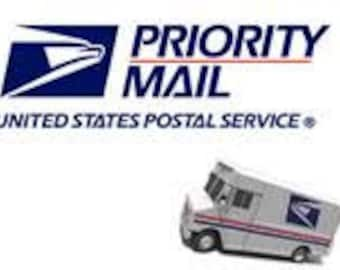 PRIORITY MAIL Add On Upgrades your domestic shipping from First Class to Priority