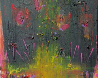 The Sun WILL Shine Again -  Original Abstract Acryllic painting on canvas