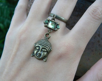 Buddha ring  CHOOSE ONE  cabachons in boho gypsy Moroccan Indie New Age hippie hipster  tribal fusion and tribal style