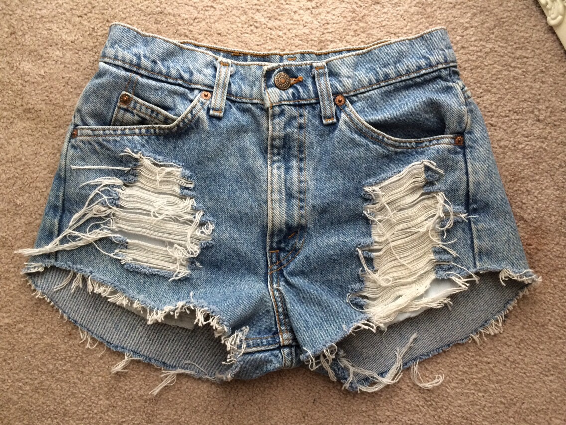 Distressed High Waisted Jean Shorts | Bbg Clothing