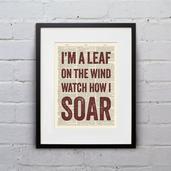 I'm a Leaf On The Wind Watch How I Soar Quote Firefly Im Watch