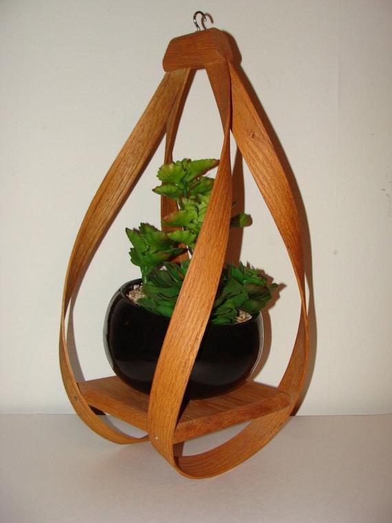 wooden plant hanger