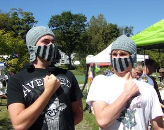 Knight Helmet  - Medieval Hat - Mens Hats - Boys Hat - Crochet Hats - Cosplay - Kids Costumes - Adult Costume - Knight Hat - Knight Costume
