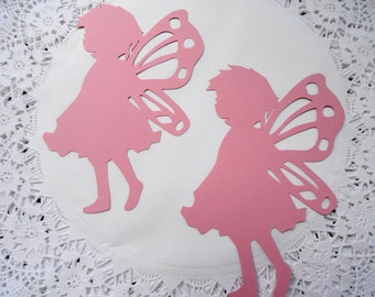 Large Pixi Winged Fairy Silhouette Die Cuts Set of 10