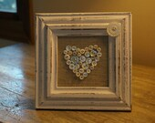 ivory button heart picture