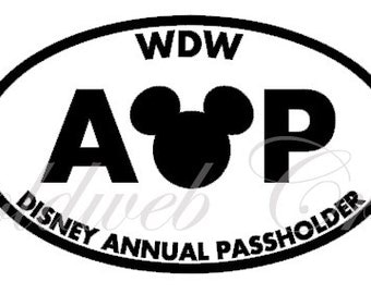 DL/WDW Disney Inspired Annual Passholder Vinyl Car Decal