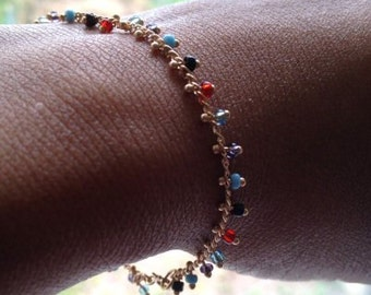 Gypsy Boho Bracelet Beaded Chain Bracelet UK Shop  Mothers Day Gift Birthday Gift
