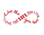 """6""""  Live the Life you Love Vinyl Sticker car decal"""