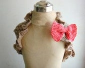 Flower Girl Shrug Wrap with Bow Pin