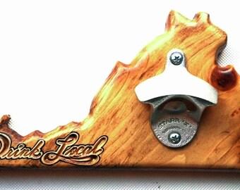 Virginia Custom Wooden Wall-Mounted Bottle Opener